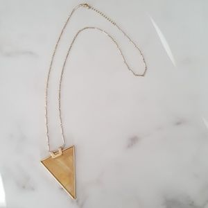 Jewelry - Gold necklace with Triangular Pendant